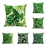 Set Of 6 Vintage Design Tropical Plant Printing Pillow Cover Creative Sofa Cushion Cover Cotton/Linen Pillow Case Home Decor