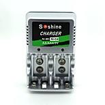 Soshine aa / aaa / 9v plug europeu ni-mh / ni-cd