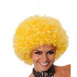Fashion Yellow Color Wig For Black Women Afro Curly Synthetic Wigs For Halloween