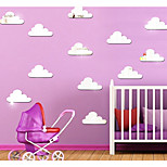 Three-Dimensional Crystal Clouds Mirror Decorate Children Room Wall Stickers