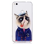 Case For Huawei P10 Lite P8 Lite(2017) Cat Pattern Transparent Soft TPU Back Cover for Huawei P10