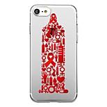 Для iphone 7plus чехол для крышки прозрачный узор задняя крышка сердце геометрический узор помогает красный ribbo мягкий tpu для iphone 7