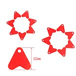 Anmuka 20Pcs/Lot Plastic Red Heat Shape Sequins For DIY Metal Spoon Fishing Lures Hard Bait Hook Jid Minnow Popper VIB Baits
