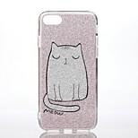 Случай для яблока iphone 7 7 плюс ударопрочный шаблон задняя крышка чехол кошка блеск сияющий жесткий ПК для iphone 6s плюс 6 плюс