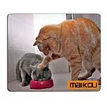 Maikou Mouse Pad Cat Wears Eyeglasses PC Mat Computer Supply Accessory