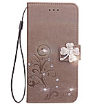 Case For Sony Xperia XZ L1 Case Card Holder Wallet Rhinestone with Stand Flip Embossed Full Body Case Flower Hard PU Leather for Xperia X XA X Compact