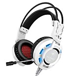 K6 Headband Wired Headphones Dynamic Gaming Earphone Foldable with Microphone with Volume Control Headset