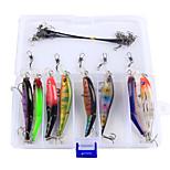 Anmuka 23Pcs/Set Bright Colorful 8.8cm 7.4g Hard Bait Minnow Fishing Lures 3D Fish Eyes Hooks Diving Perch Wobbler Fishing Tackle