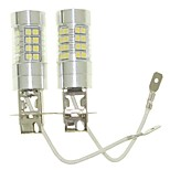 Sencart 2pcs H3 PK22S Fog Driving Light Headlight Bulbs Lamps(White/Red/Blue/Warm White) (DC/AC9-32V)