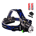 Headlamps LED 3000 lumens Lumens 3 Mode Cree XM-L2 T6 2 x 18650 Batteries for Camping/Hiking/Caving Everyday Use Cycling/Bike Hunting