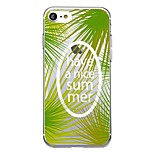 Для iphone 7plus чехол чехол прозрачный узор задняя крышка чехол слово / фраза фрукты банан лист мягкий tpu для iphone 7 6splus 6plus 6s 6