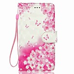 Case For Huawei P8 LITE P9 LITE Flower Pattern 3D PU Wallet Leather Card Holder with Hand Strap for Huawei P10 P10 LITE Y5 II P8 LITE 2017