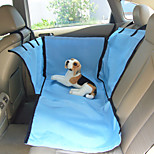 Cat Dog Car Seat Cover Pet Baskets Solid Blue Beige