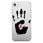 Для iphone 7plus чехол для крышки прозрачный узор задняя крышка чехол для сердечек вспомогательная красная лента мягкая tpu для iphone 7