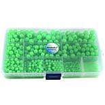 Anmuka 820Pcs/Box Plastic Glow Fishing Beads Round Luminous Sea Fishing Floating Fishing Lure Set