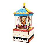 DIY KIT Music Box Toys Horse Carousel Wood Pieces Kid Unisex Birthday Valentine's Day Gift