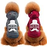 Собака Толстовка Одежда для собак Праздник На каждый день Спорт Мода Носки детские Серый Пурпурный