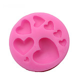 1 Piece Cake Molds Heart-Shaped Everyday Use Silica Gel