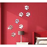 Feet Mirror Decorate Children Room Wall Stickers