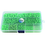 Anmuka 900Pcs Oval Mixed Size Luminous Fishing Beads Green Floating Plastic Fishing Beads with Fishing Tackle Box