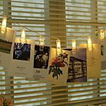 BRELONG 5M LED Photo Clip String Light Battery Powered Warm White White RGB