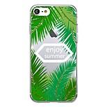 Для iphone 7plus чехол для корпуса прозрачный узор задняя крышка чехол слово / фраза фрукты лист мягкий tpu для iphone 7 6splus 6plus 6s 6