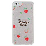 Case  for Apple iPhone 7 Plus iPhone 7  Cover Glow in the Dark Pattern Back Cover Case Word / Phrase Fruit Glitter Shine Hard PC for iPhone 6s Plus