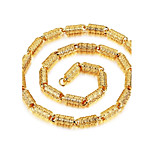 Муж. Ожерелья с подвесками Круглый В форме линии Позолота Металлик Мода По заказу покупателя Хип-хоп Классика Бижутерия Назначение Для