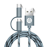 USB 2.0 Cavi, USB 2.0 to USB 2.0 Tipo C Micro USB 2.0 Cavi Maschio/maschio 1.5M (5 piedi)
