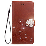 Case For Sony Xperia Z5 Z4 Case Cover Card Holder Wallet Rhinestone with Stand Flip Embossed Full Body Case Flower Hard PU Leather for Xperia Z2 Z3