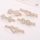 cheap -Korean Version of the Diamond Bow Crown Card Bangs Folder Duckbill Chucks Jewelry Mixed With 6PCS
