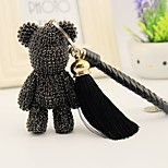 Bag / Phone / Keychain Charm Bear Rhinestone Style Tassel Cartoon Toy Polyester Korea Style