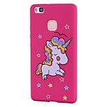 Case For Huawei P10 Lite P10 Cover Frosted Pattern Back Cover Case Unicorn Glitter Shine Soft TPU for P9 Lite P8 Lite