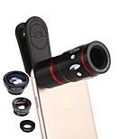 Недорогие -Объектив мобильного телефона coiorvis 12x телефото 0.67x широкий угол 180 глаз рыбы 15x макросъемка внешнего объектива