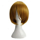 Girl's Blonde Lolita Cosplay Wigs Short Straight High Temperature Synthetic Fiber Bob Hair Party Wig