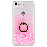 Case for apple iphone 7 plus iphone 7 cover flowing liquid ring holder back cover case glitter shine hard pc для iphone 6s plus iphone 6