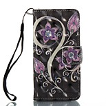 Case For Apple ipod touch 5 touch 6 Case Cover Card Holder Wallet with Stand Flip Pattern Full Body Case Flower Hard PU Leather