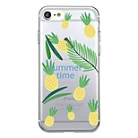 For iPhone 7Plus Case Cover Transparent Pattern Back Cover Case Tile Fruit pineapple Soft TPU for iPhone 7 6sPlus 6plus 6s 6  5 5s SE