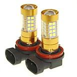 Sencart 2pcs H11 PGJ19-1  Flashing Bulb Led Car Tail Turn Reverse Light Bulb Lamps(White/Red/Blue/Warm White) (DC/AC9-16V)