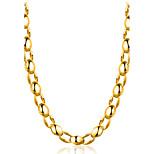 Муж. Жен. Ожерелья-цепочки Бижутерия Геометрической формы Позолота Мода Регулируется Крест Rock Готика Бижутерия Назначение Для вечеринок