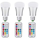 10W E27 LED Globe Bulbs A70 1 leds COB Dimmable Decorative RGB+Warm 1000lm +3000K AC85-265V