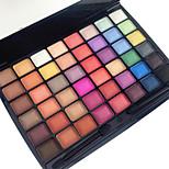 48 Color in 1 Palette, 3 Color Palette Select Палитра теней Сухие Матовое стекло Отблеск Палитра теней порошок Повседневный макияж Макияж