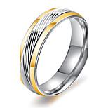 Муж. Классические кольца Винтаж Elegant бижутерия Мода Титановая сталь Круглый Бижутерия Назначение Свадьба Обручение Повседневные