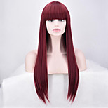 cheap -Synthetic Wig Straight Synthetic Hair Red Wig Women's Long Capless