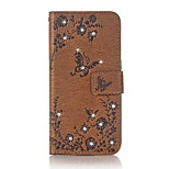 case for huawei p9 lite case cover the butterfly pattern with rhinestone pu leather cases