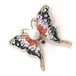 Women's Brooches Rhinestone Animal Design Alloy Animal Shape Butterfly Jewelry For Party Daily Casual Evening Party Office & Career