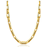 Men's Choker Necklaces Jewelry Geometric Gold Gothic Simple Style Chrismas Classic Elegant Jewelry For Party Christmas Date Work Club