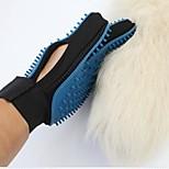 Chat Chien Toilettage Santé Nettoyage Kits de toilettage Brosses Bains Etanche Portable Pliable Bleu