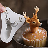 3D Stag's Head Mold Christmas Deer Fondant Cake Silicone Moulds Soap Cupcake Baking Tools Chocolate Cutters Molds