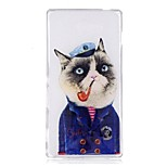 Case For Sony M2 XA Case Cover Cartoon Cat Pattern TPU Material IMD Craft Mobile Phone Case